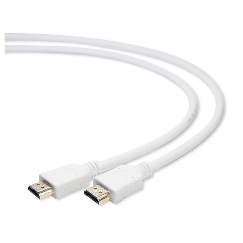 Фото - Аксессуар Gembird Cablexpert HDMI 19M v2.0 1m White CC-HDMI4-W-1M аксессуар gembird cablexpert hdmi 19m v2 0 10m cc hdmi4 10m