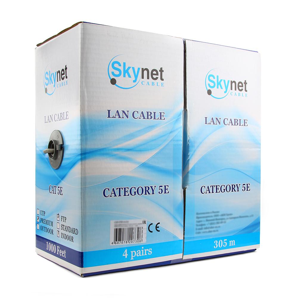Сетевой кабель SkyNet Standart FTP cat.5e 305m Grey CSS-FTP-4-CU  - купить со скидкой