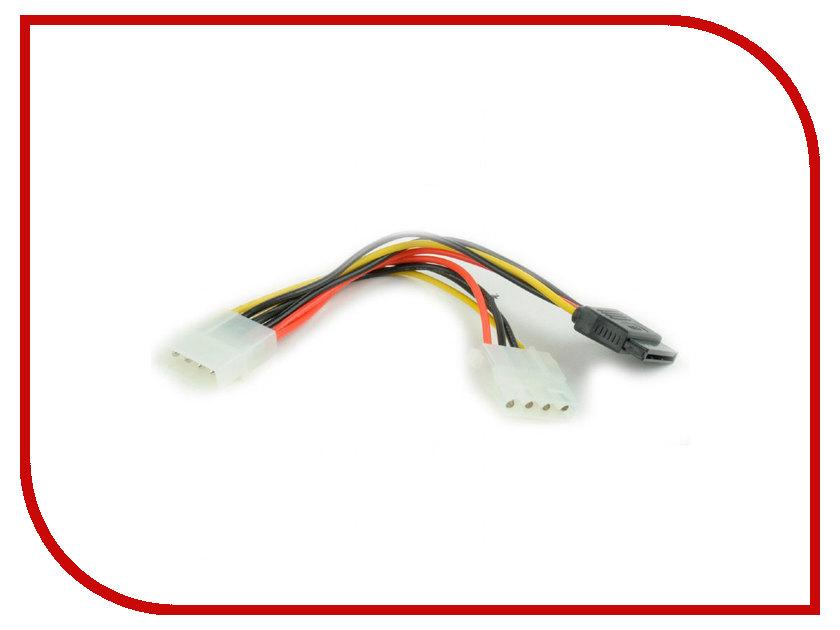 Купить Аксессуар Кабель питания Gembird Cablexpert Molex - Molex+SATA 15cm CC-SATA-PSY2