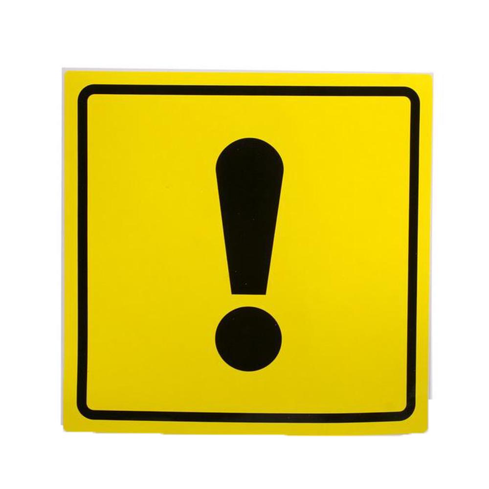 наклейка на авто знак ш шипы треугольная наружная 18x20cm 07145 Наклейка на авто Знак Airline Начинающий водитель ГОСТ 15x15cm AZN03 - наружная самоклеющаяся 1шт