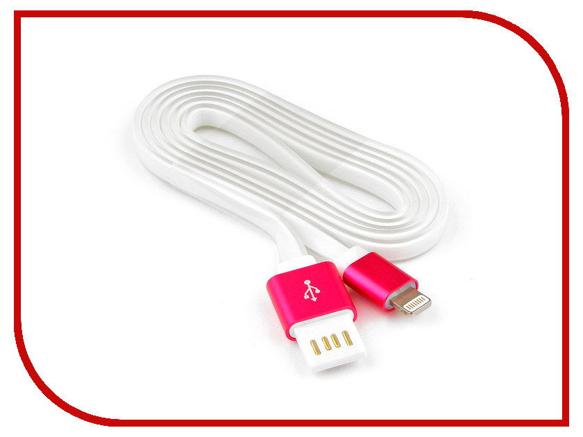 Купить Аксессуар Gembird Cablexpert USB AM/Lightning 8P 1m Pink CC-ApUSBr1m