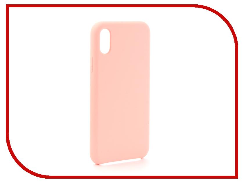 Аксессуар Чехол для APPLE iPhone X Krutoff Silicone Case Pink Sand 10817  - купить со скидкой