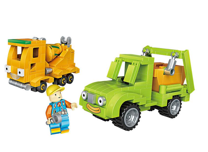 игрушки для детей машинки Конструктор LoZ Транспорт 2 машинки + персонаж 344 дет. LZ1816