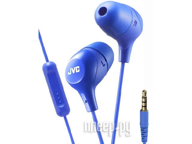 Наушники JVC HA-FX38M Blue наушники jvc ha fx38m b e черный