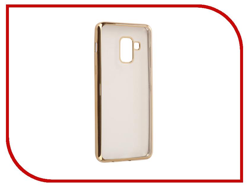 Купить Аксессуар Чехол для Samsung Galaxy A8 2018 A530 iBox Blaze Gold frame