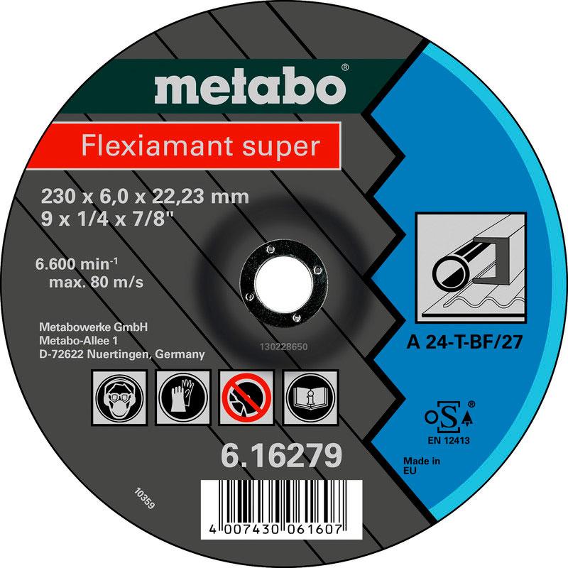 Диск Metabo Flexiamant Super 125x6.0 A24T Обдирочный для стали 616486000