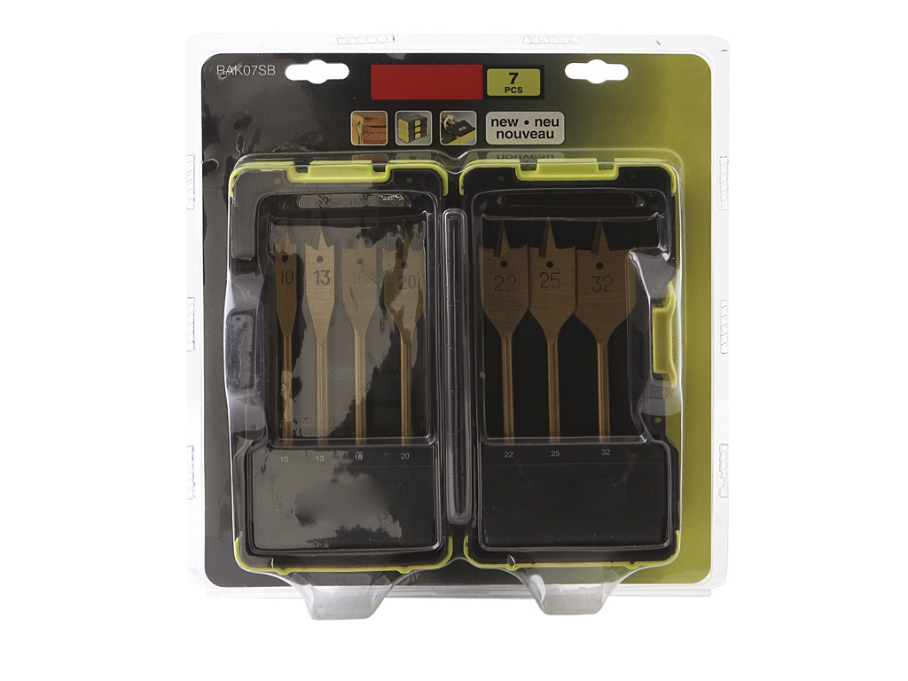 магнитный держатель для ножей regent inox 60см 93 bl jh3 Набор сверл Ryobi RAK07SB