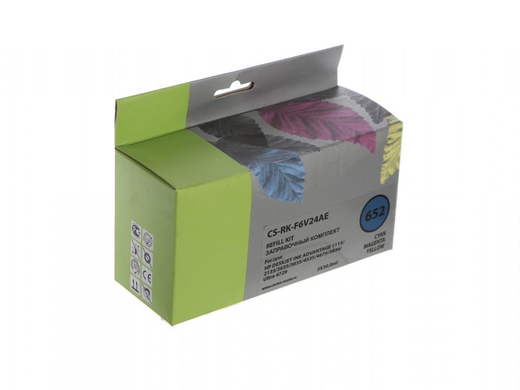 rolsen rk 1050cr Чернила Cactus CS-RK-F6V24AE Multicolor для HP Deskjet Ink Advantage 1115/2135/3635/4535/3835