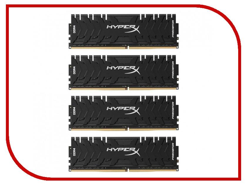 Купить Модуль памяти Kingston HyperX Predator DDR4 DIMM 3000MHz PC4-24000 CL15 - 32Gb KIT (4x8Gb) HX430C15PB3K4/32