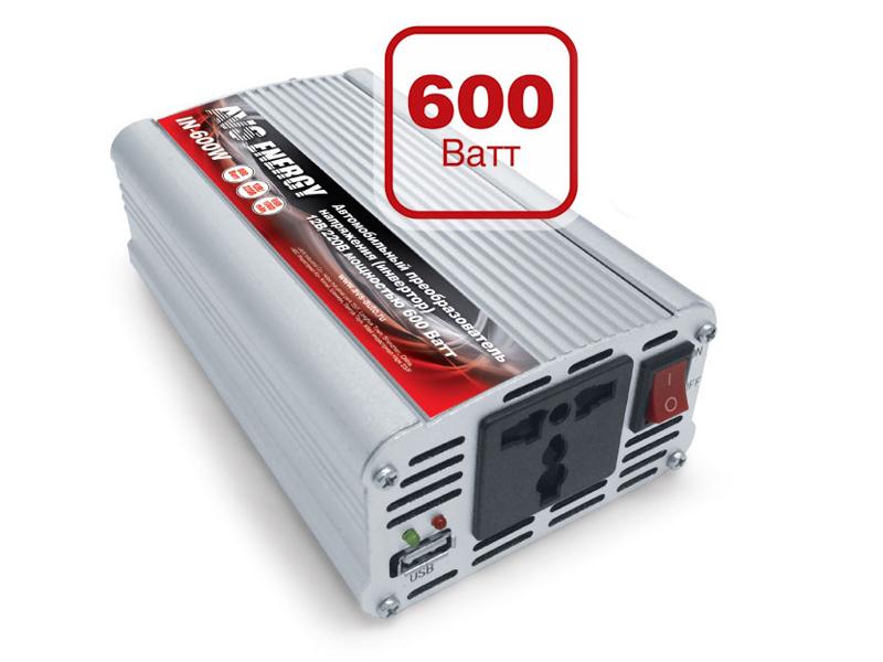 Автоинвертор AVS IN-600W-24 A07044S