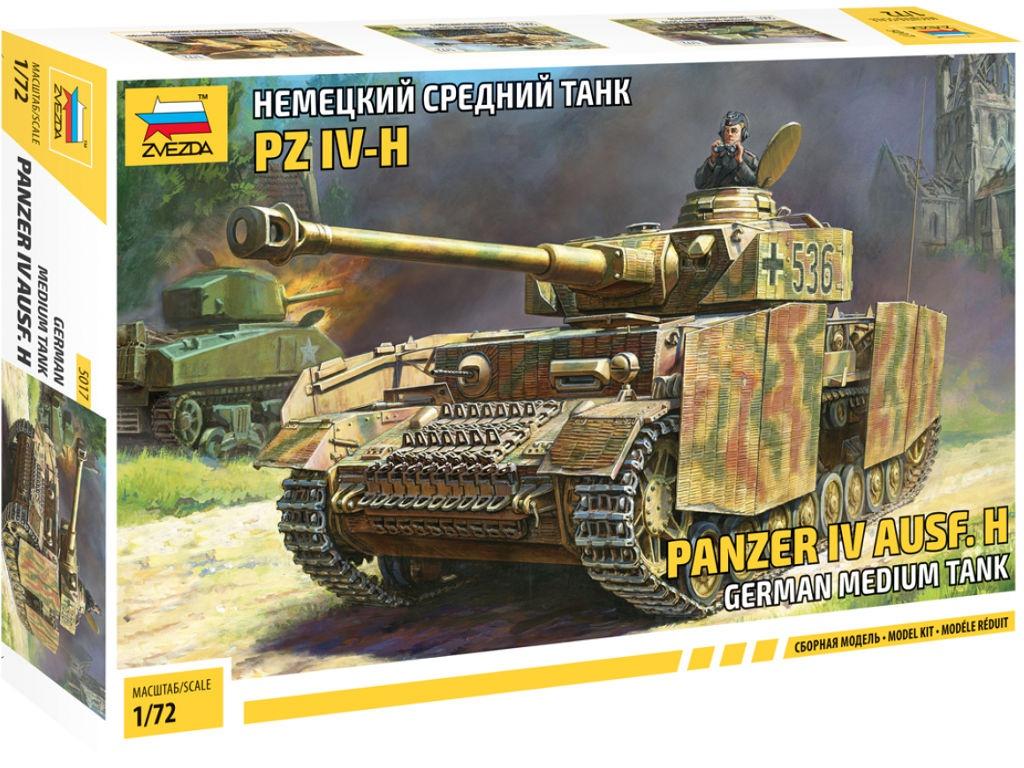 сборная модель zvezda советский тяжелый танк т 35 5061 Сборная модель Zvezda Немецкий средний танк T-IV H 5017