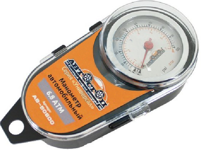измеритель глубины протектора шин автостоп ab 90100 chrome Манометр АВТОСТОП AB-50600 Grey