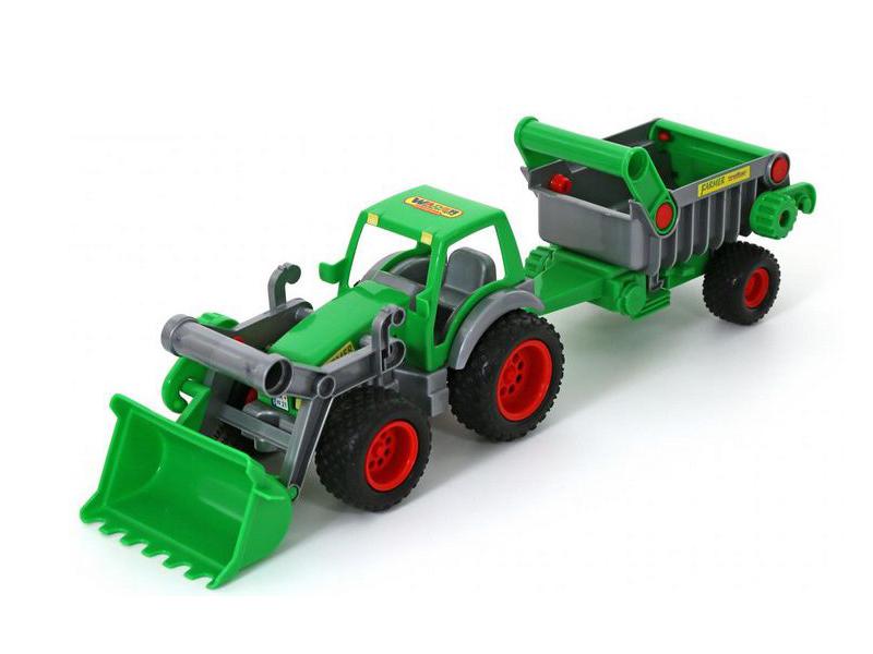 игрушка наша игрушка погрузчик вилочный 6655 7 Игрушка Полесье Трактор-погрузчик с полуприцепом Фермер-техник 8718