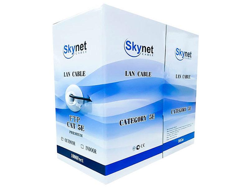 Сетевой кабель SkyNet Light FTP cat.5e Outdoor 4x2x0.46 FLUKE TEST 100m Black CSL-FTP-4-CU-OUT/100