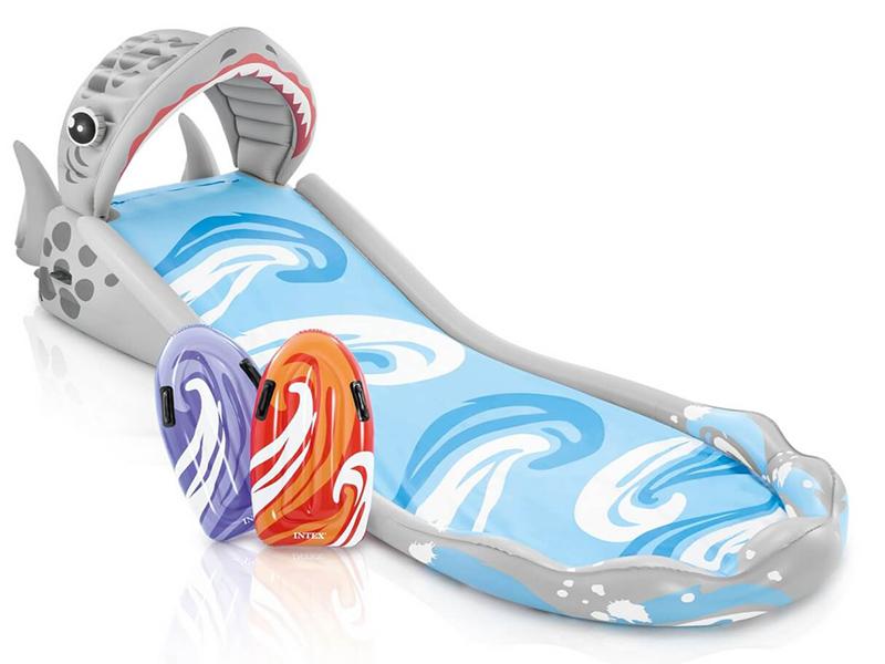 Надувная игрушка Intex Горка надувная Акула 460x168x157cm 57159  - купить со скидкой