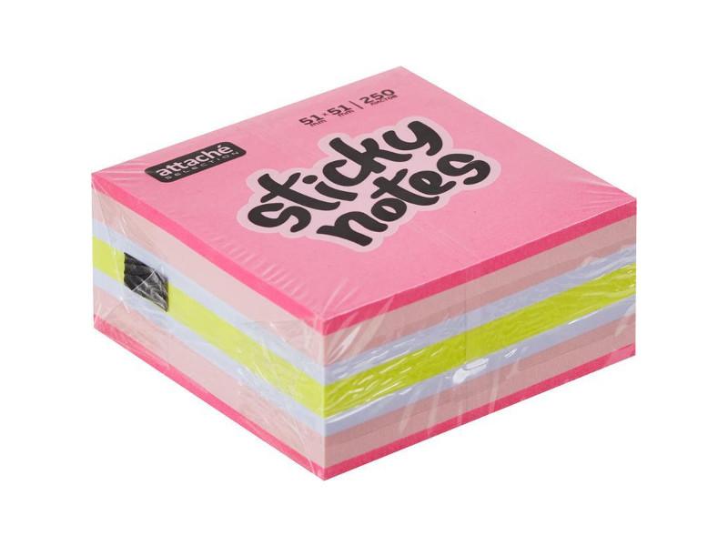 Стикеры Attache Selection 51x51mm 250 листов Strawberry Mix 383723