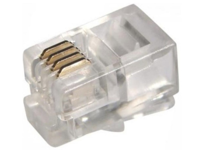 Коннектор 5bites RJ-11 4p4c US010A - 100шт