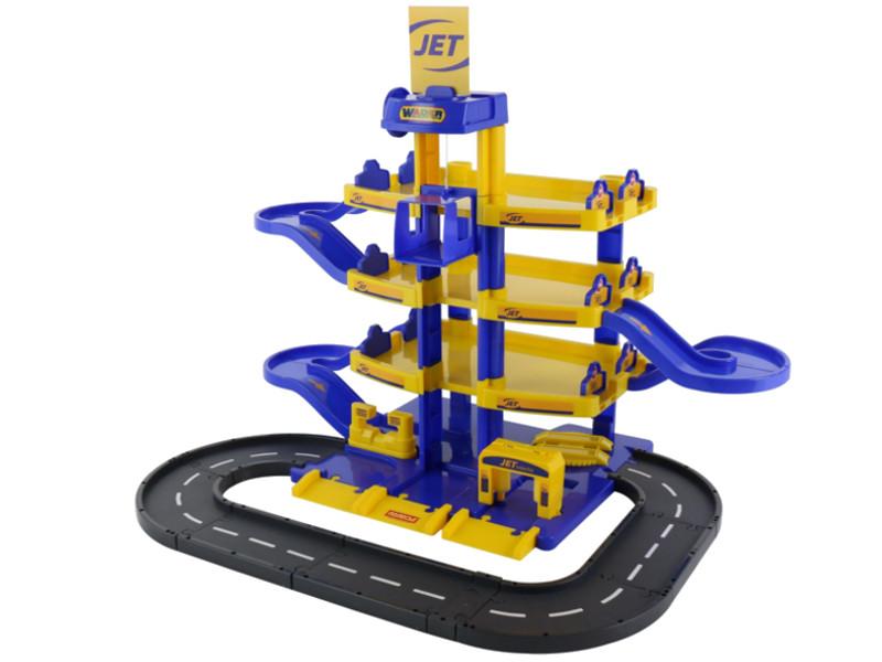 Игрушка Паркинг ПолесьеJet 4-уровневый с дорогой 40220