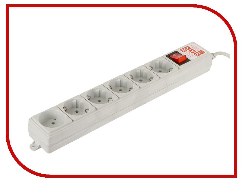 Купить Сетевой фильтр Power Cube 5+1 Sockets 1.9m Grey SPG(5+1)-B-6