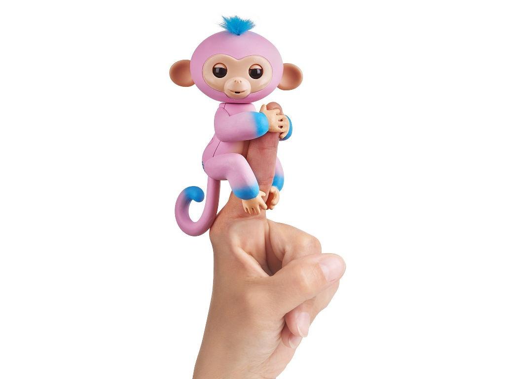 rovio wowwee Игрушка WowWeeFingerlings Обезьянка Канди Pink-Blue 3722