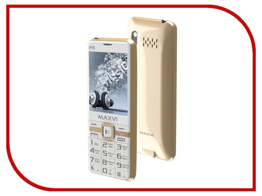 Купить Сотовый телефон Maxvi P15 White Gold