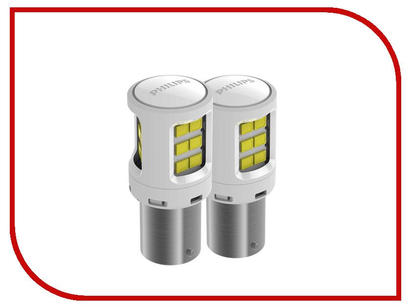 Купить Лампа Philips P21W 12V-24V-2W BA15S LED White 11498ULWX2 (2 штуки)