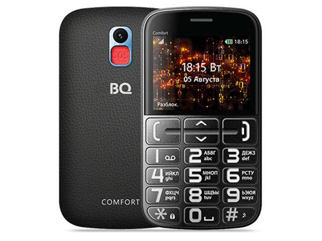 сотовый телефон fly slimline black blue Сотовый телефон BQ 2441 Comfort Blue-Black