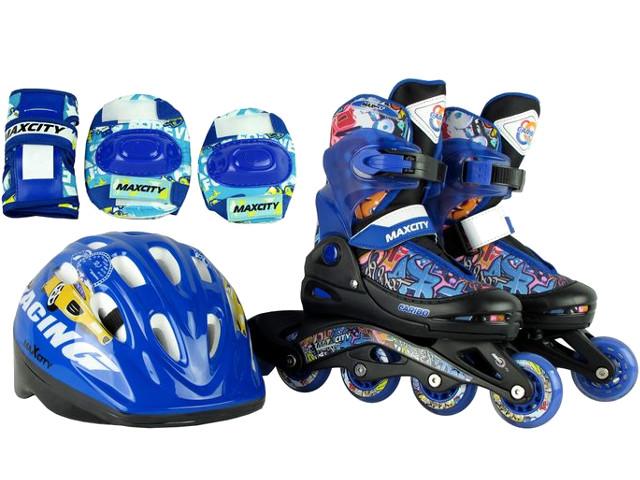 купить коньки граф Коньки Maxcity Caribo Combo Boy р.30-33 Blue