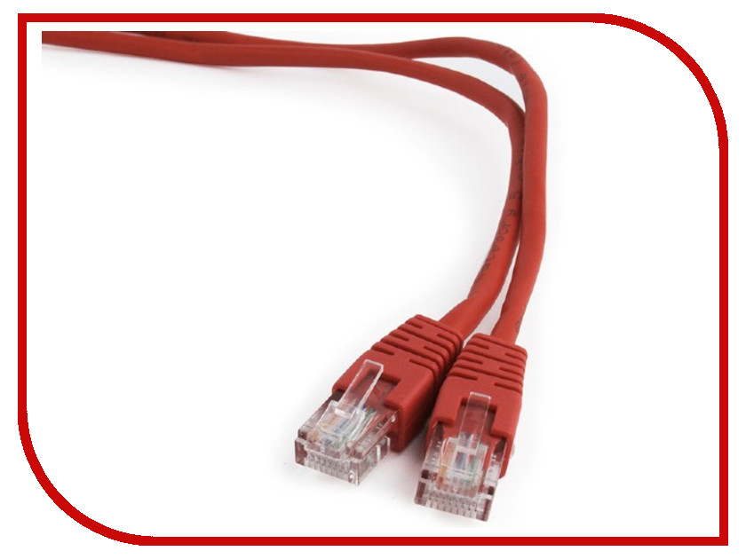 Купить Сетевой кабель Gembird Cablexpert UTP cat.5e 1.5m Red PP12-1.5M/R