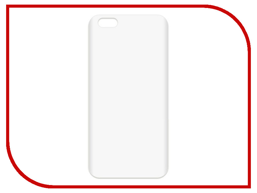 Купить Аксессуар Чехол-накладка для APPLE iPhone 6 Plus / 6S Plus Krutoff TPU Transparent 11941, APPLE iPhone 6 Plus/6S Plus