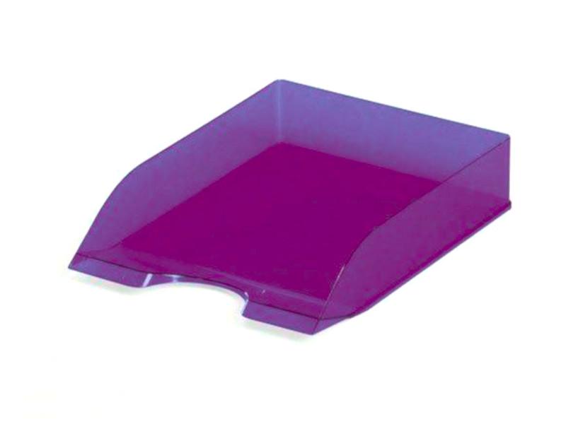 лоток горизонтальный berlingo steel & style silver bms 41011 Лоток горизонтальный Durable Tray Basic A4 Transparent Violet 1701673992