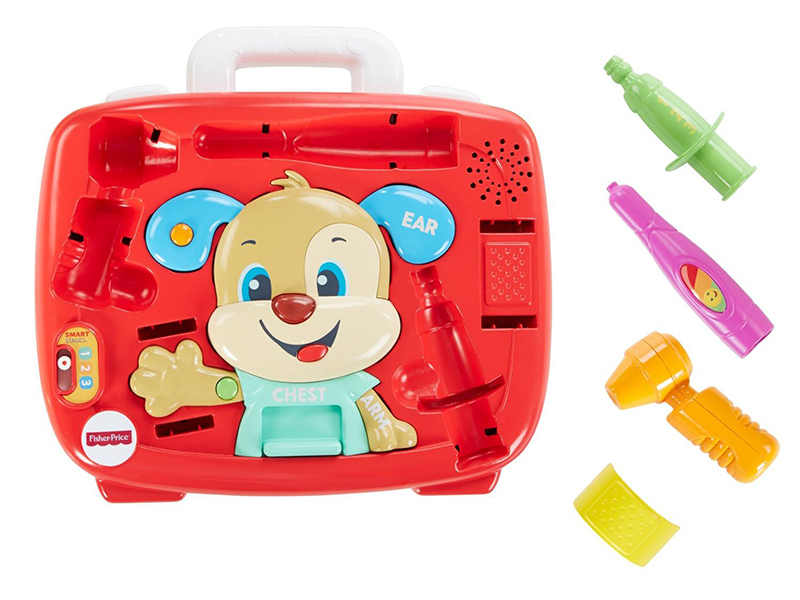 планшет mattel fisher price смейся и учись ноутбук ученого щенка fxk38 Mattel Медицинский набор Fisher-Price Ученого Щенка FTC79