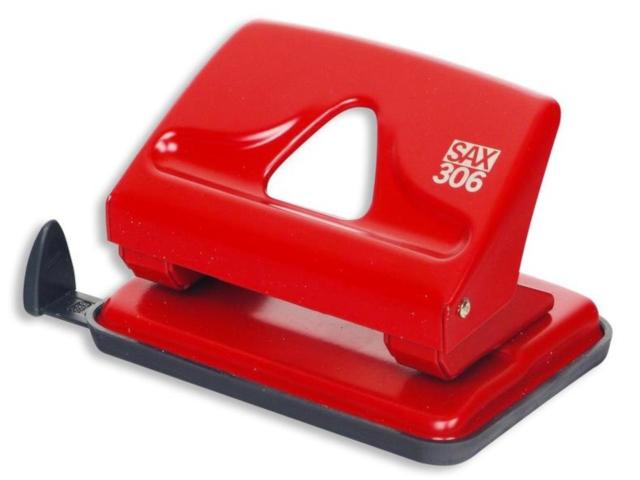 дырокол sax 306 до 20л с линейкой red 50974 Дырокол SAX 306 до 20л с линейкой Red 50974