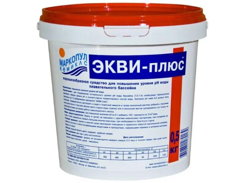 Купить Гранулы для повышения уровня рН Маркопул-Кемиклс Экви-Плюс 500гр (ведро) М30