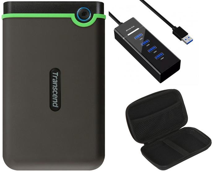 Жесткий диск Transcend StoreJet 25M3 Slim 1Tb Iron Gray TS1TSJ25M3S Выгодный набор + серт. 200Р!!!