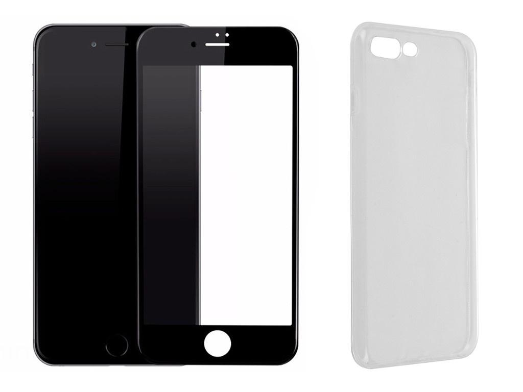z3 plus Аксессуар Защитное стекло + накладка Innovation для APPLE iPhone 7 Plus / 8 Plus Lux 5D Black 11704