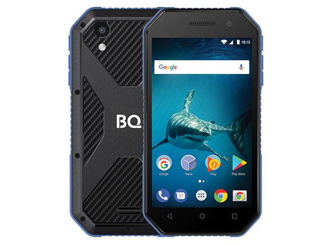 сотовый телефон fly slimline black blue Сотовый телефон BQ 4077 Shark Mini Black-Blue