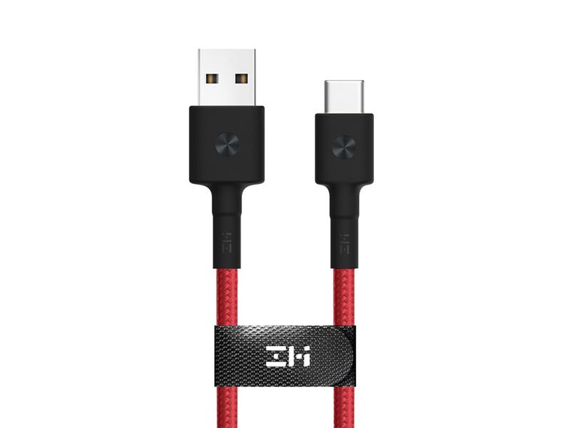 Фото - Аксессуар Xiaomi ZMI AL411 USB - Type-C 30cm Red кабель xiaomi zmi al511 2 in 1 usb type c micro 30cm white