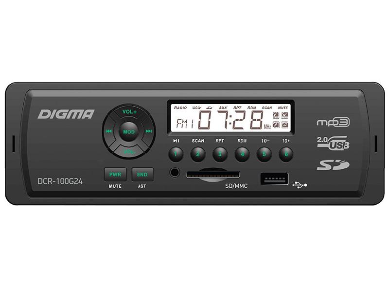 Автомагнитола Digma DCR-100G24 автомагнитола digma dcr 100g24