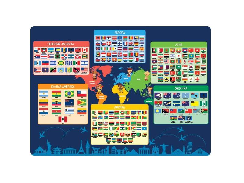 Купить Накладка на стол Silwerhof Флаги и государства 33x46cm 671618