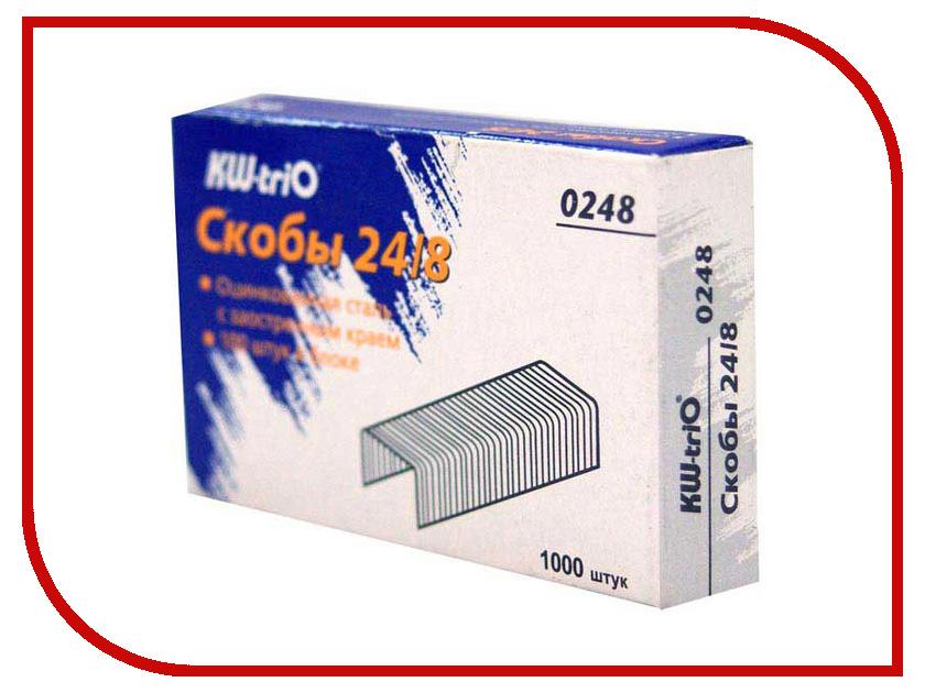 Скобы для степлера KW-triO 24/8 1000шт 0248  - купить со скидкой