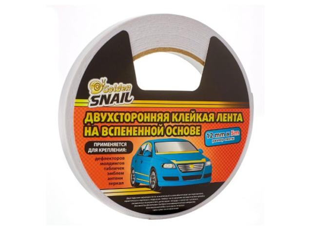 клейкая лента stayer profi 50mm x 5m 1217 05 Клейкая лента Golden Snail Двухсторонняя 12mm x 5m GS 8005