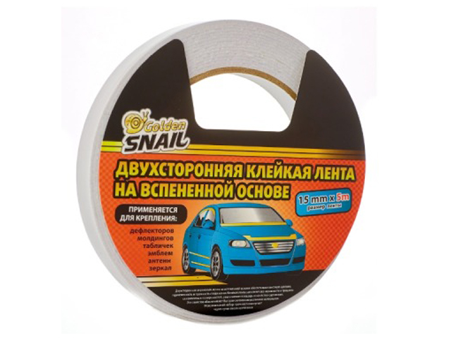 клейкая лента stayer profi 50mm x 5m 1217 05 Клейкая лента Golden Snail Двухсторонняя 15mm x 5m GS 8006