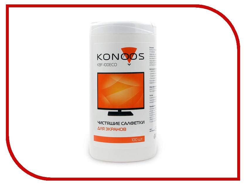 Купить Салфетки Konoos KBF-100ECO 100шт для экранов в банке