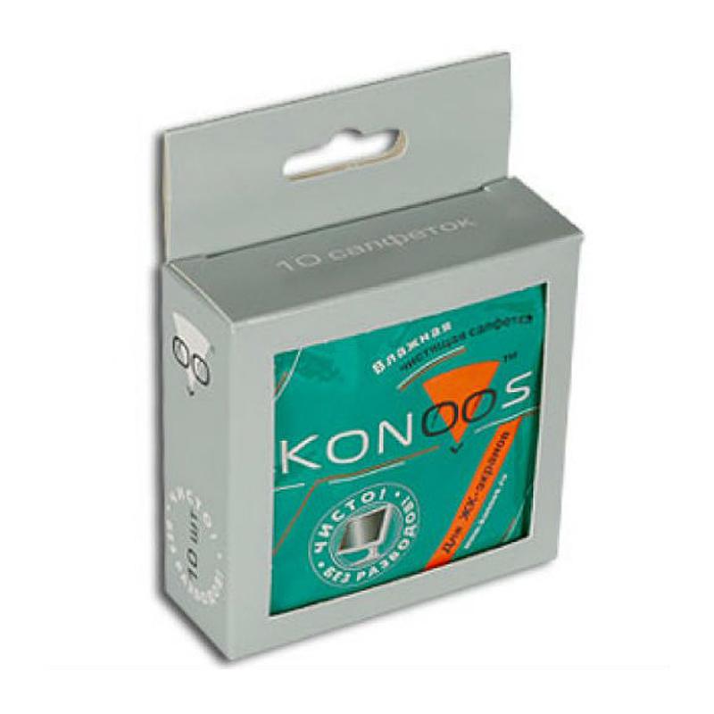 Салфетки Konoos KTS-10 10шт для экранов  - купить со скидкой