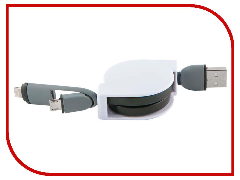 Купить Аксессуар Red Line 2в1 USB - MicroUSB/Lightning УТ000014342