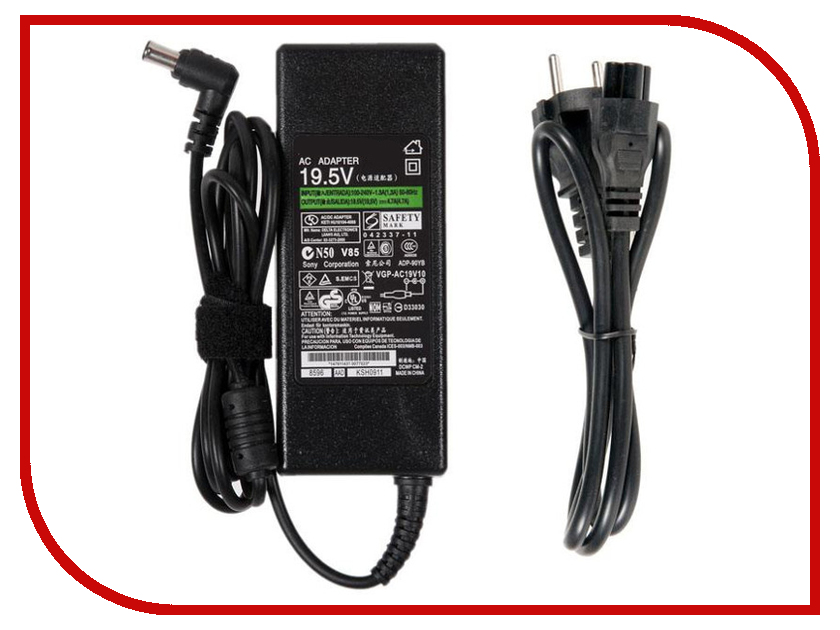Купить Блок питания RocknParts Zip 19.5V 4.7A 90W для Sony Vaio VGN-SZ/FZ/CR/FS/FE/FJ/S3/S4/S5/BX 365525