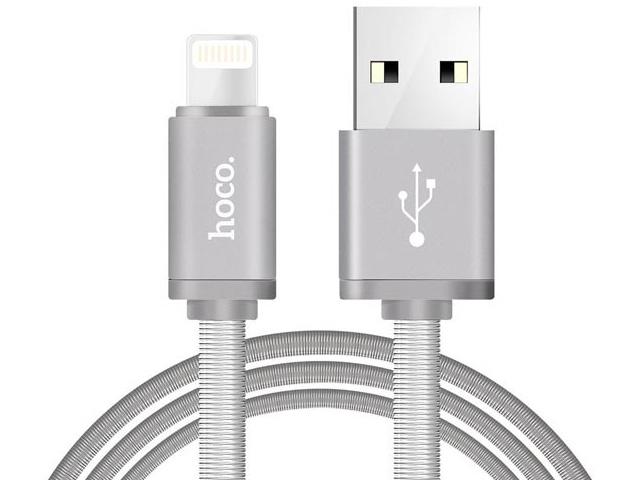 Фото - Аксессуар Hoco Metal U5i USB - Lightning Silver аксессуар hoco ls29 dual lightning 2xlightning white