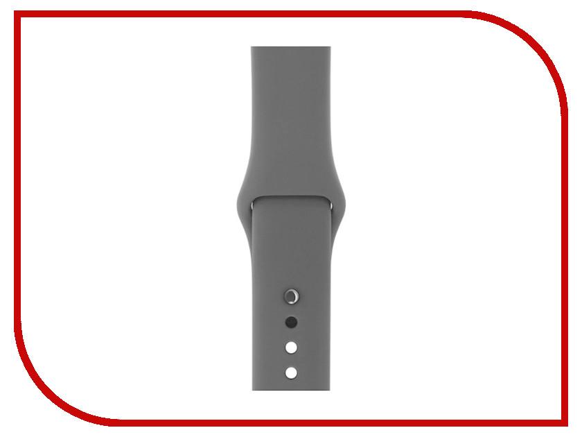 Купить Аксессуар Ремешок Gurdini Sport Silicone для APPLE Watch 42mm Black 905024