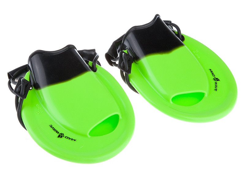 ласты mad wave training размер 33 34 blue m0747 10 2 04w Ласты для брасса Mad Wave Positive Drive 34-35 Green-Black M0741 01 2 00W